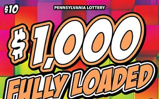 $1,000 FULLY LOADED (PA)- How to play (game rules) - Example of winning - Video