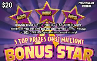 BONUS STAR MILLIONS (PA LOTTERY) - How to play (game rules) - Example of winning - Video