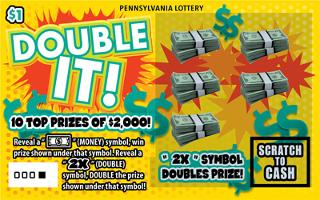 DOUBLE IT (PA LOTTERY)- How to play (game rules) - Example of winning - Video