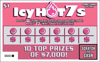 ICY HOT 7S (PA LOTTERY)- How to play (game rules) - Example of winning - Video