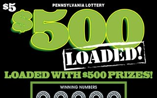 $500 LOADED from 5$ PENNSYLVANIA LOTTERY