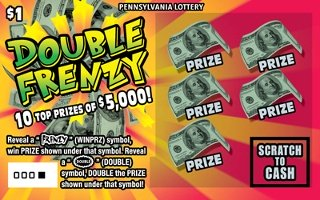 DOUBLE FRENZY (PA LOTTERY) - How to play (game rules) - Example of winning - Video