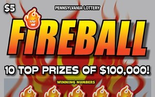 FIREBALL (PA LOTTERY)- How to play (game rules) - Example of winning - Video