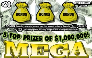 MEGA MILLIONAIRE (PA)- How to play (game rules) - Example of winning - Video