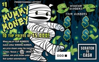MUMMY MONEY (PA LOTTERY)- How to play (game rules) - Example of winning - Video