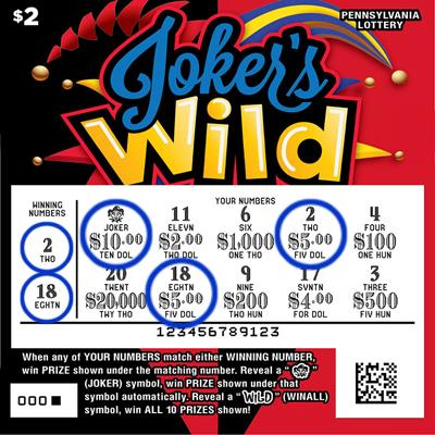 JOKER'S WILD (PA LOTTERY)- How to play (game rules