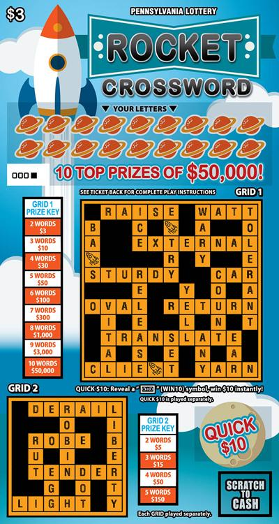 Rocket Crossword Pa Lottery How To Play Game Rules Example Of Winning Video